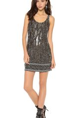 Haute Hippie Beaded Tank Dress - Lyst