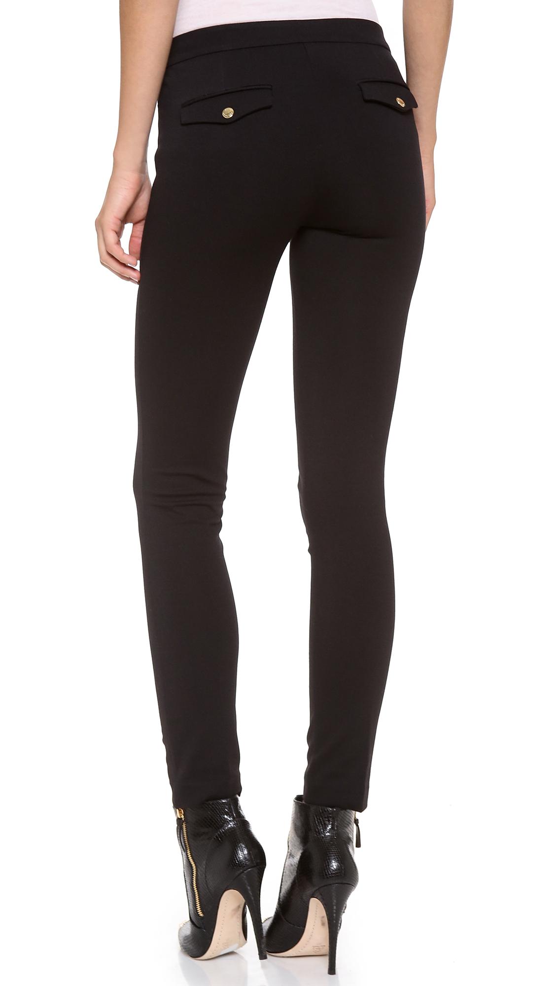 lyst juicy couture ponte pants in black. Black Bedroom Furniture Sets. Home Design Ideas