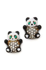 Juicy Couture Panda Bear Stud Earrings - Lyst