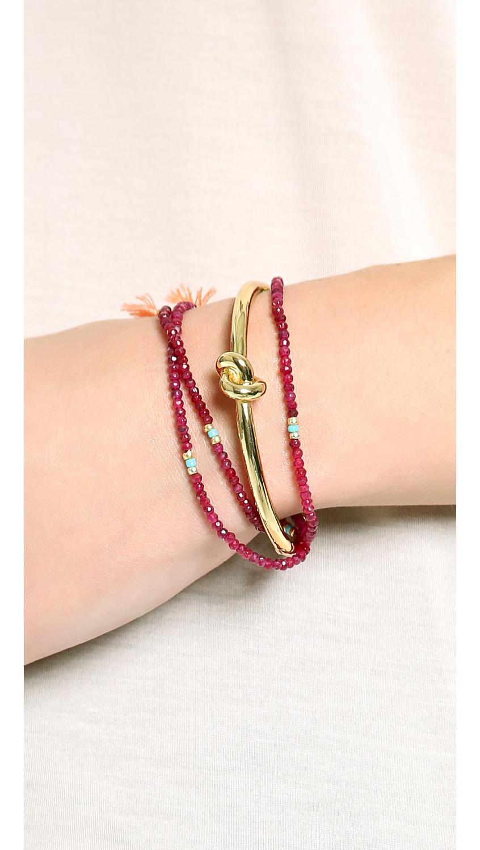 Kate Spade Sailor S Knot Bangle Bracelet In Gold Lyst
