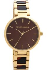 Kenneth Jay Lane Tortoise Link Watch - Lyst