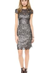 L'Agence Lace Dress with Silk Slip - Lyst