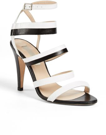 LK Bennett Giselle Leather Sandal - Lyst