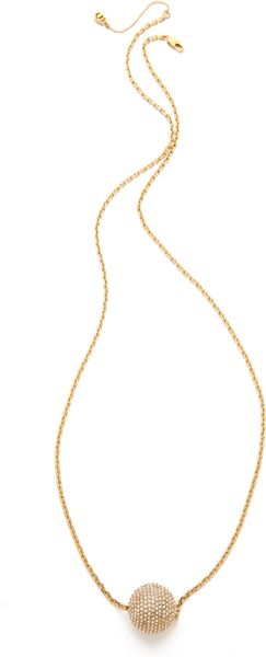 Michael Kors Pave Fireball Pendant Necklace - Lyst