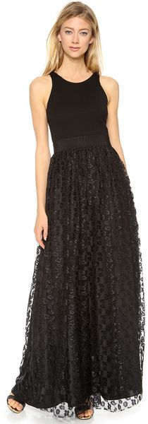 Milly Racer Lace Party Gown - Lyst