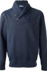 Ralph Lauren Blue Label Shawl Collar Sweater - Lyst