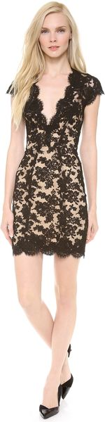 Reem Acra Lace Cocktail Dress - Lyst