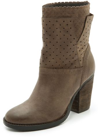 Steven Kobra Perforated Booties - Lyst