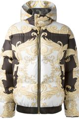 Versace Baroque Feather Down Jacket - Lyst