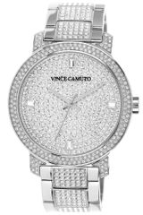 Vince Camuto Womens Crystalaccented Stainless Steel Bracelet Watch 42mm Vc - Lyst