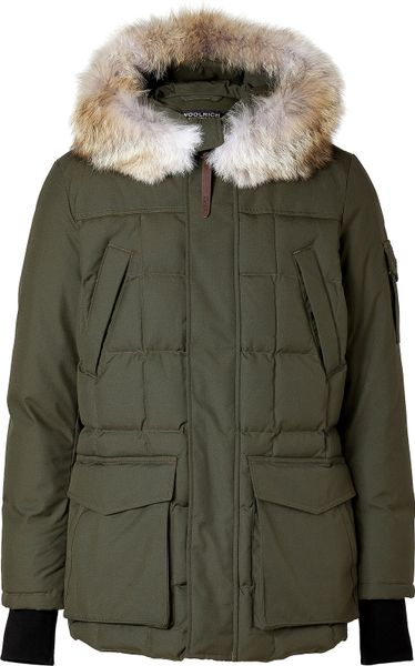 woolrich teton blizzard parka in flint olive in green for men olive. Black Bedroom Furniture Sets. Home Design Ideas