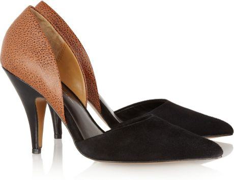 3.1 Phillip Lim Dorsay Suede and Texturedleather Pumps in Black
