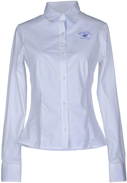 Beverly Hills Polo Club Long Sleeve Shirt In White Lyst