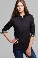 Burberry Brit Check Cuff Button Down Shirt - Lyst