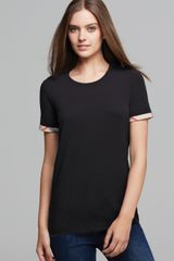 Burberry Brit Check Cuff Tee - Lyst
