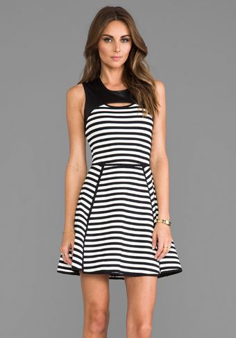 Cut25 Bold Stripe Techno Dress in Black - Lyst