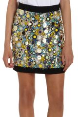 Emanuel Ungaro Embellished Mini Skirt - Lyst