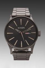 Nixon The Sentry Ss in Charcoal - Lyst