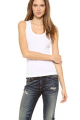 Rag & Bone The Basic Ribbed Tank - Lyst