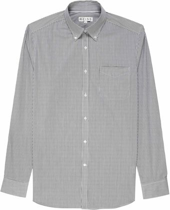 Reiss Holden Fine Stripe Button Down Shirt - Lyst