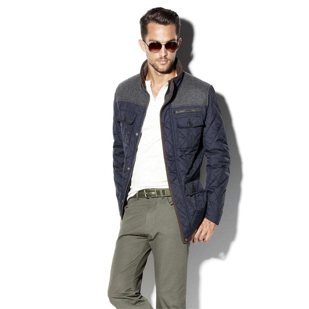 Vince camuto Nylon Quilted Jacket in Blue for Men | Lyst : vince quilted jacket - Adamdwight.com