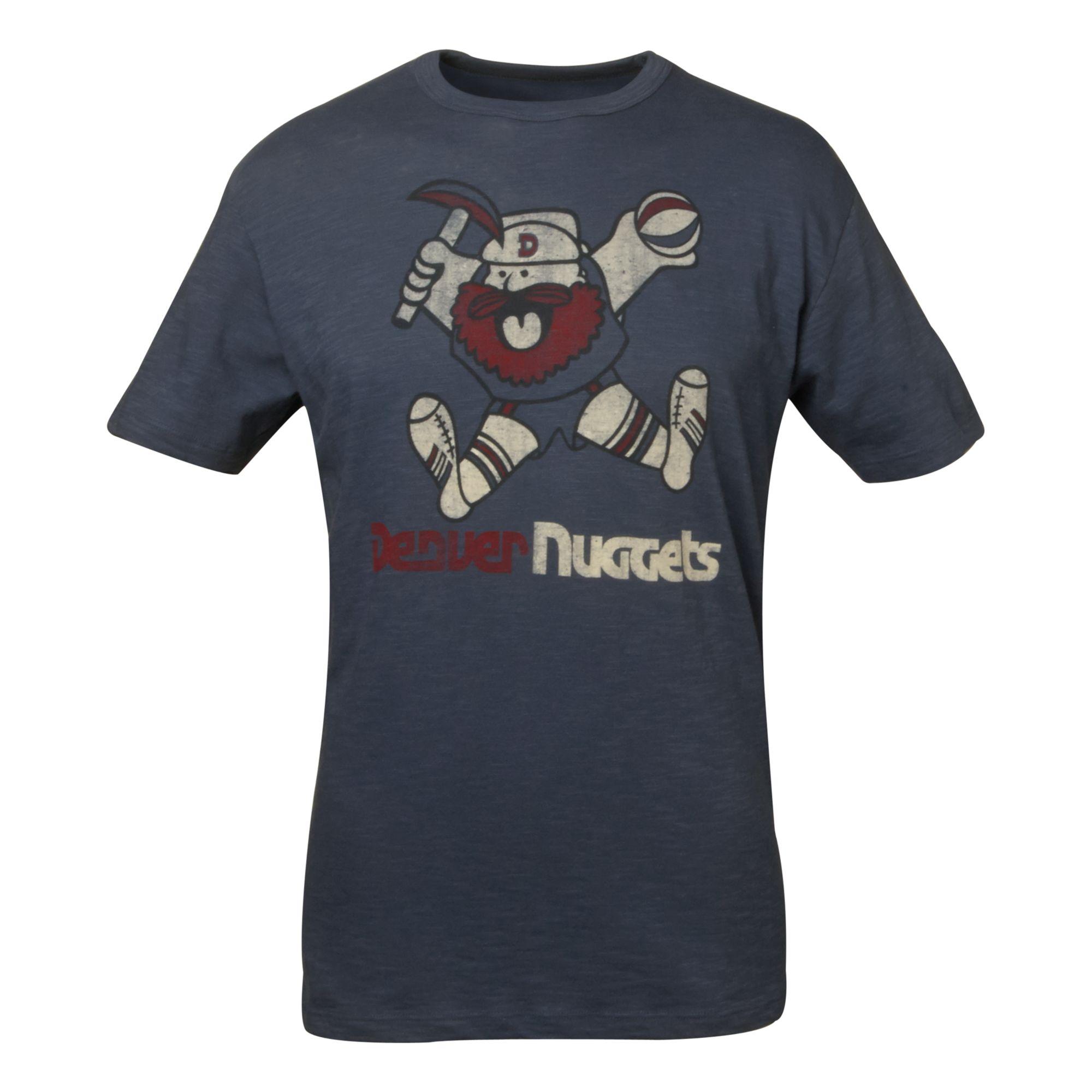 47 Brand Men's Denver Nuggets Wordmark Scrum T-shirt In