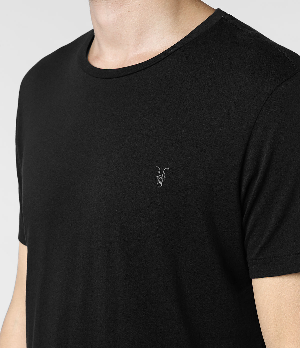 17f1c3c9be AllSaints Tonic Crew T-Shirt in Black for Men - Lyst
