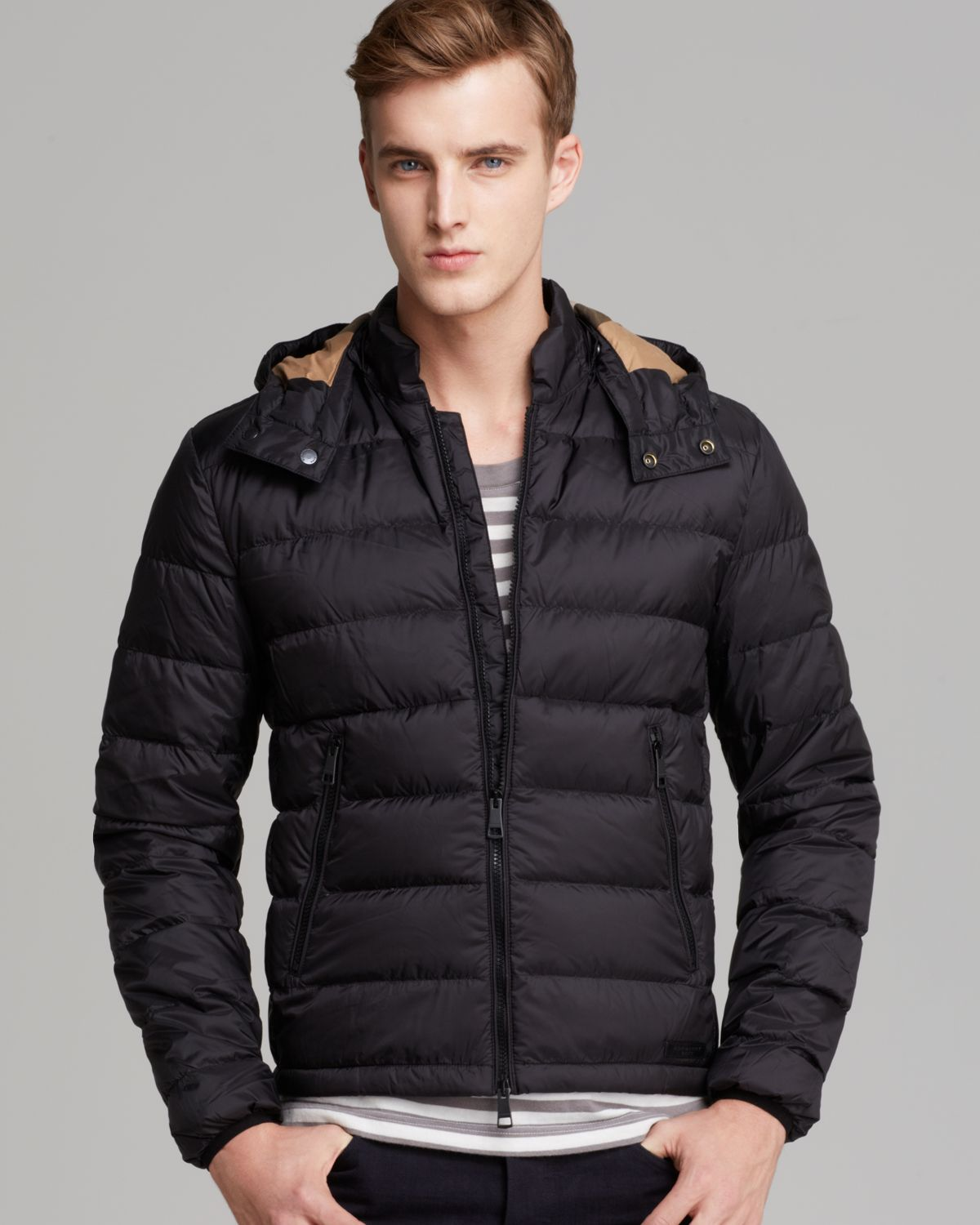 Burberry Brit Mitchson Quilted Down Jacket In Black For ...