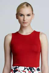 Carolina Herrera Sleeveless Cashmeresilk Shell - Lyst