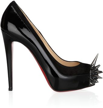 Christian Louboutin Asteroid 140 Suede and Patentleather Pumps - Lyst