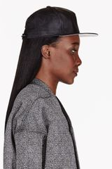 DRKSHDW by Rick Owens Black Mock Leather Baseball Cap - Lyst