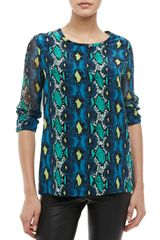 Equipment Liam Canopy Snakeprint Top - Lyst