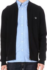 Fred Perry Contrast Coloured Cardigan - Lyst