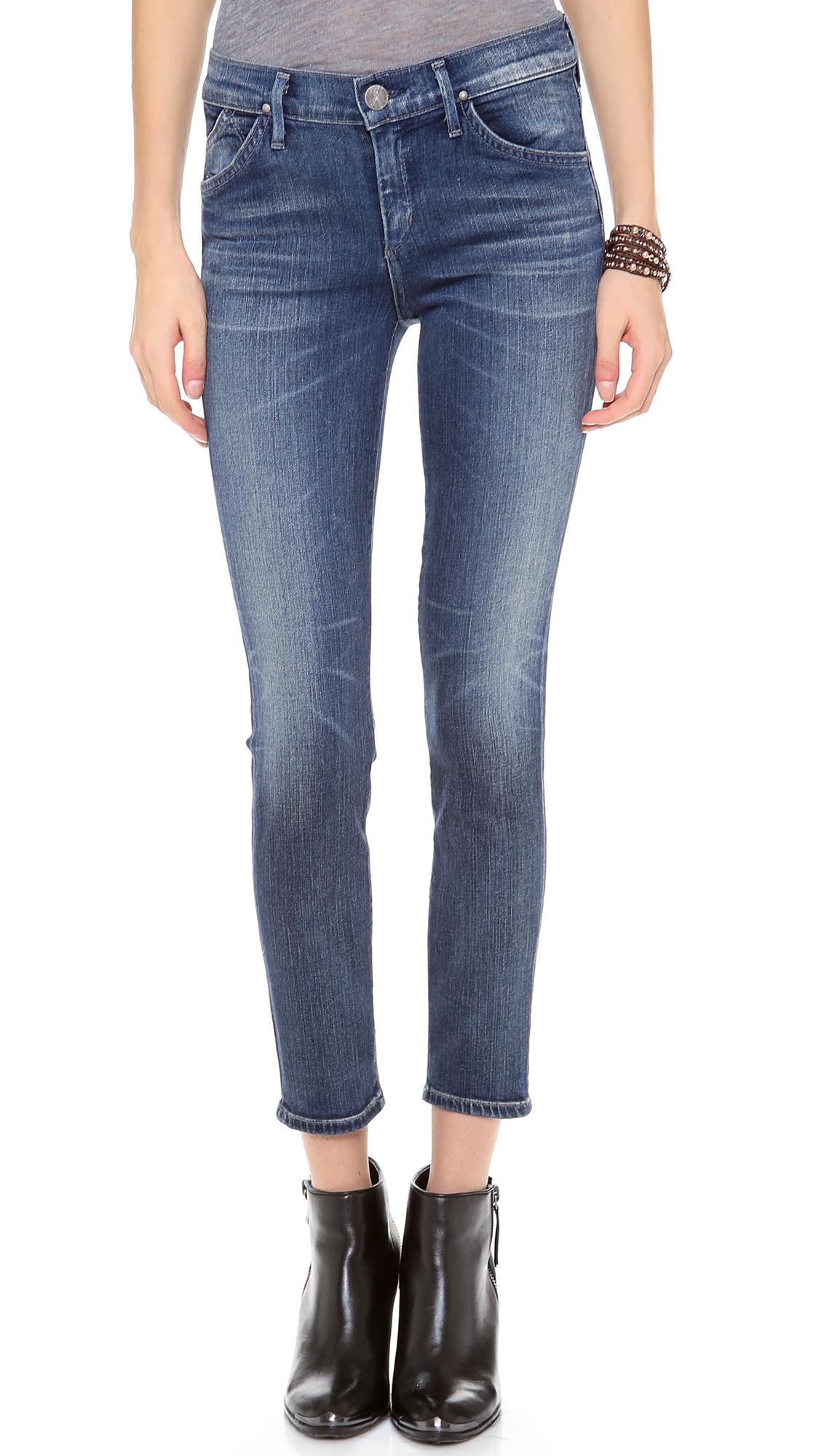 Goldsign Glam Skinny Crop Jean in Blue