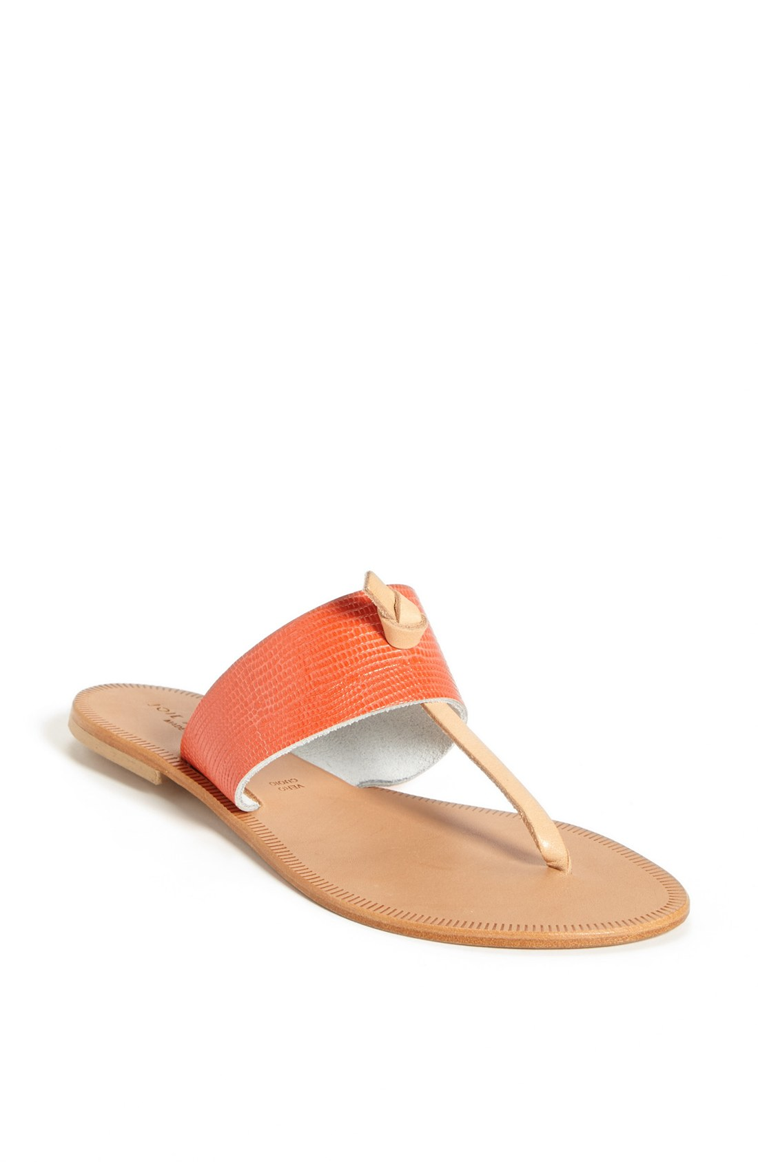 Joie A La Plage Nice Leather Thong Sandal In Orange Coral