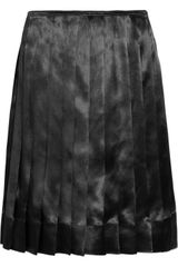 Marc Jacobs Pleated Satin Skirt - Lyst