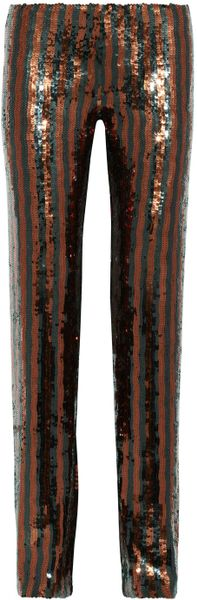 Marc Jacobs Sequined Straightleg Pants - Lyst