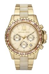Michael Kors Golden Stainless Steel Parker Chronograph Glitz Watch - Lyst