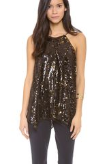 Milly Gathered Tank - Lyst