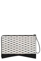 Narciso Rodriguez Boomerang Genuine Python Leather Clutch - Lyst