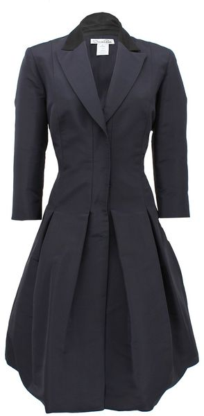 Oscar de la Renta Sleeveless Notch Collar Shirt Dress - Lyst