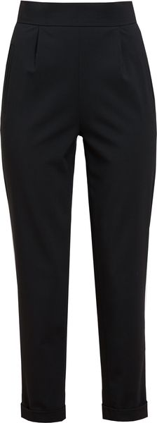 Osman Yousefzada Highwaisted Cropped Wool Trousers - Lyst