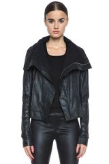 Rick Owens Classic Biker Leather Jacket - Lyst
