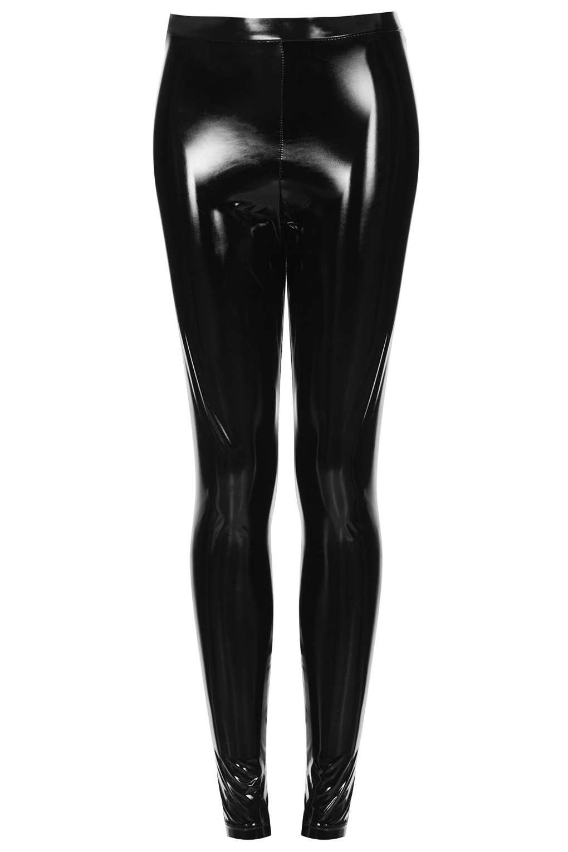 Topshop Vinyl Leggings In Black Lyst