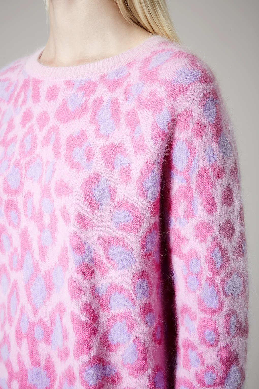 Topshop Leopard Print Fluffy Angora Jumper By Meadham Kirchhoff in ...