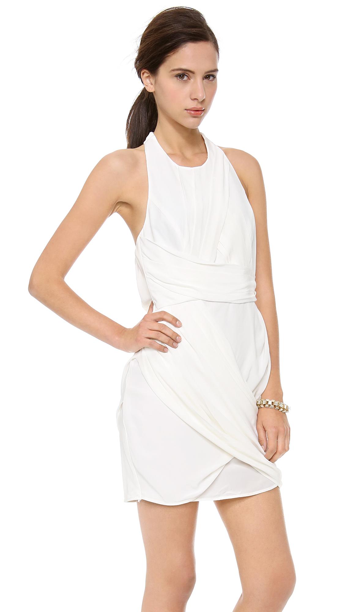 87ca8c748365a Lyst - Zimmermann Back Drape Dress - White in White