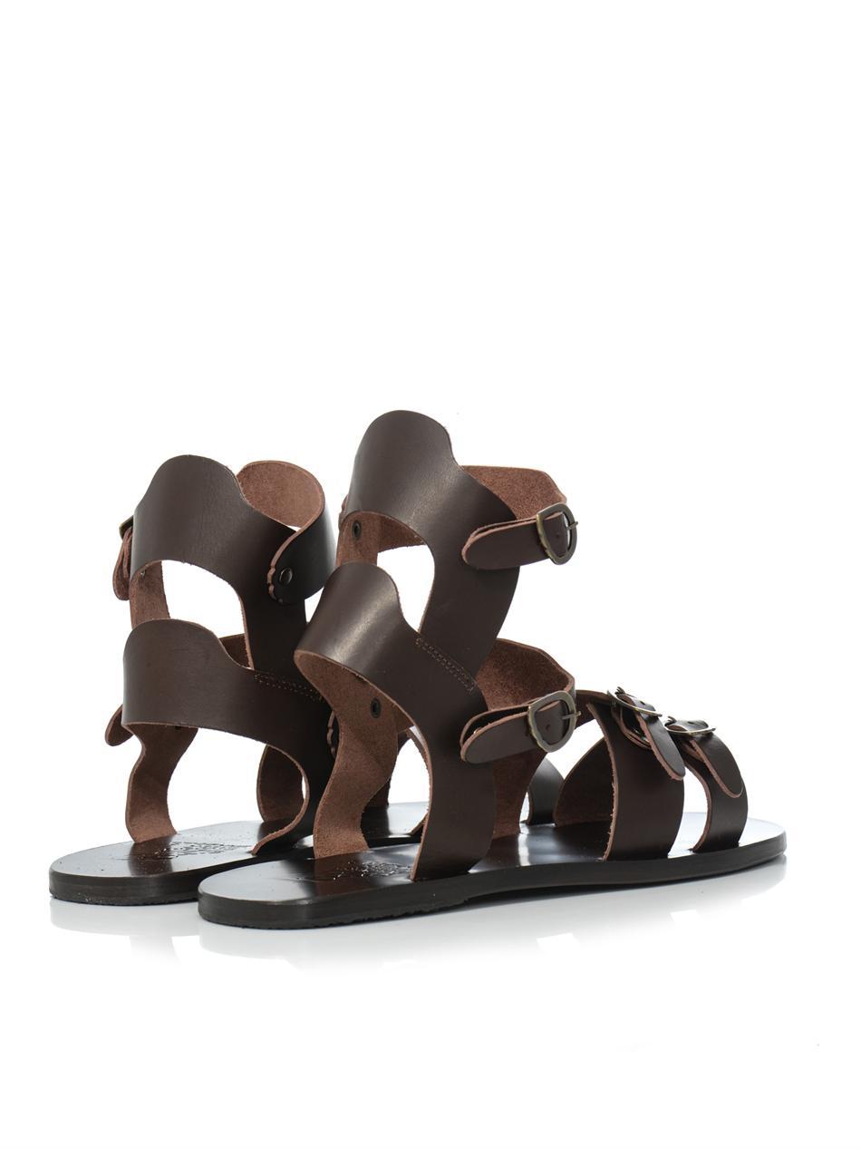 19dacff83d842c Lyst - Ancient Greek Sandals Achilles Leather Sandals in Brown for Men