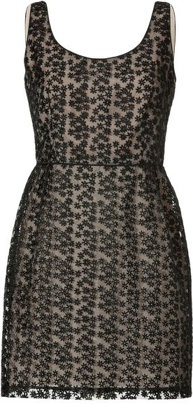 Anna Sui Embroidered Tulle Dress - Lyst