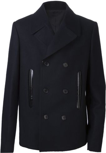 Balenciaga Double Breast Peacoat - Lyst