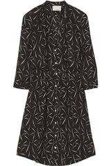 Band Of Outsiders Printed Silk Crepe Dress - Lyst